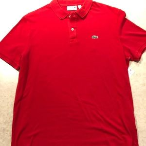 Lacoste Mens size 7 XXL red polo